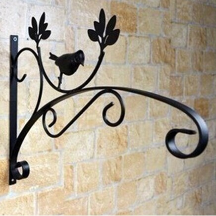 Home happy garden wrought iron hanging baskets hook hook outdoor balcony wall hanging orchid flower basket hook rack