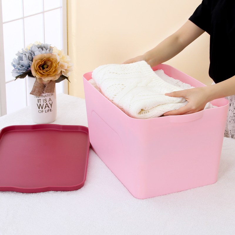 Honey honey flower korean thicker plastic storage box storage box debris sorting box storage box tray with lid 4 sets