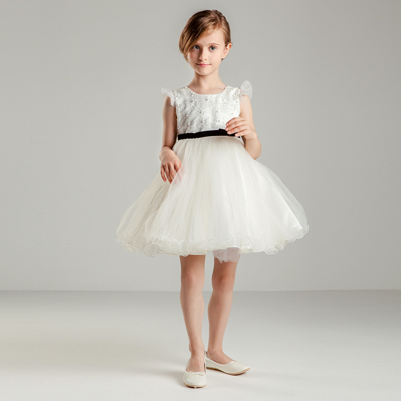 Honeybox children dress wedding flower girl dresses girls princess dress korean version of tutu skirt autumn and winter new dress