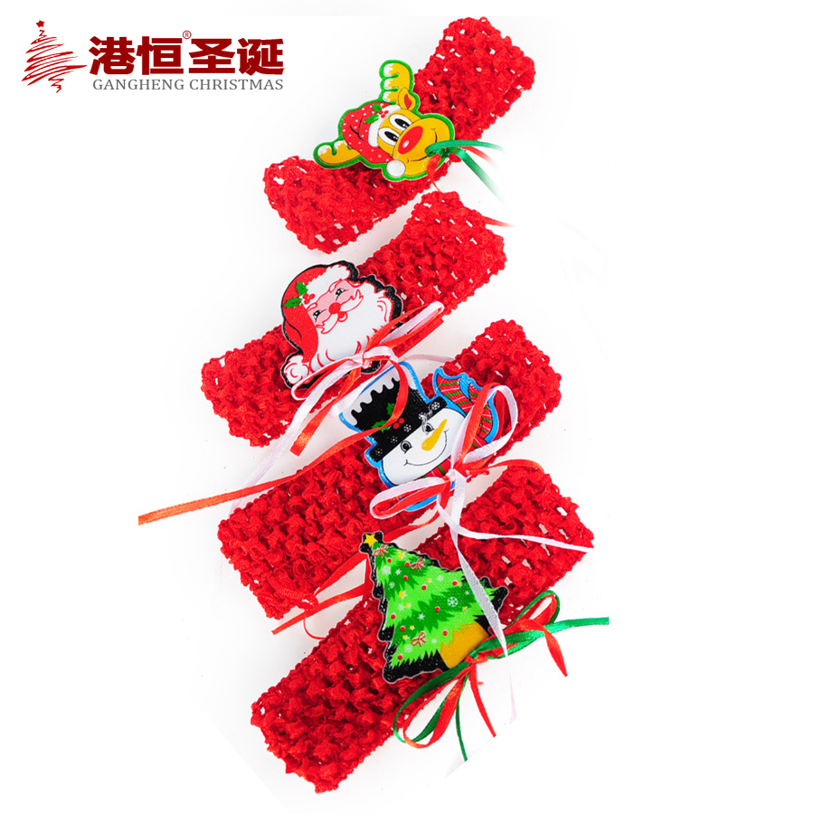 Hong kong hang christmas party dress christmas decorative hair band/bracelet christmas/christmas ornaments variety of optional 15g