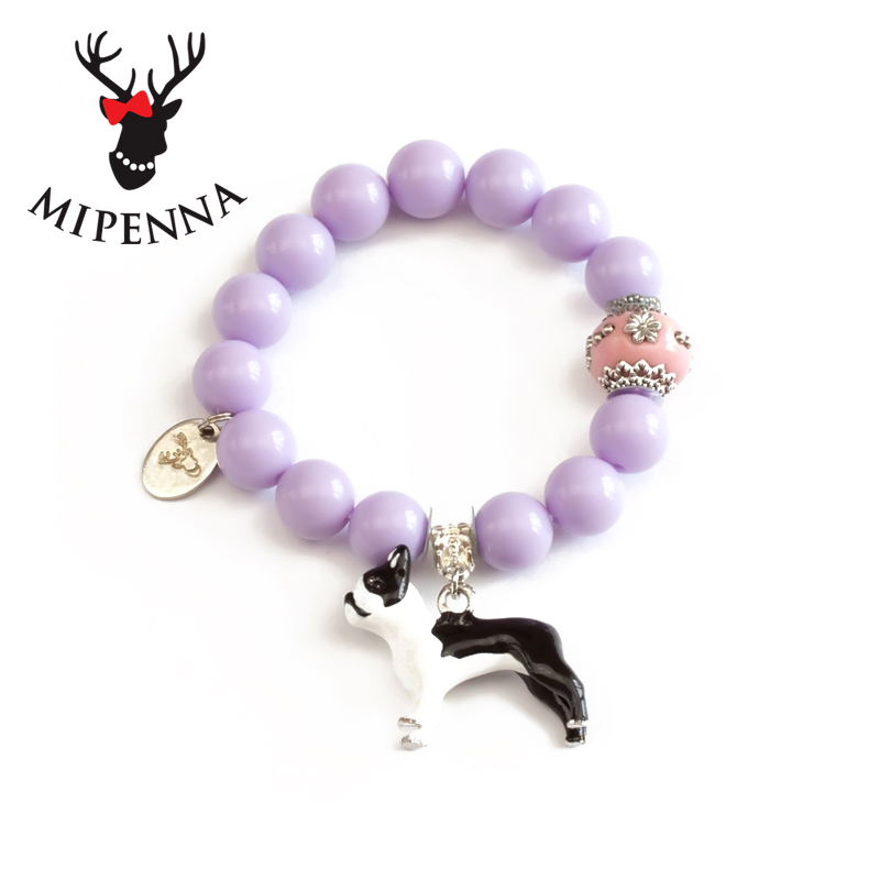Hong kong shopping japanese mipenna mi bona thepouchedmammals are purple sweet macarons color korean version of the personalized jewelry bracelet female