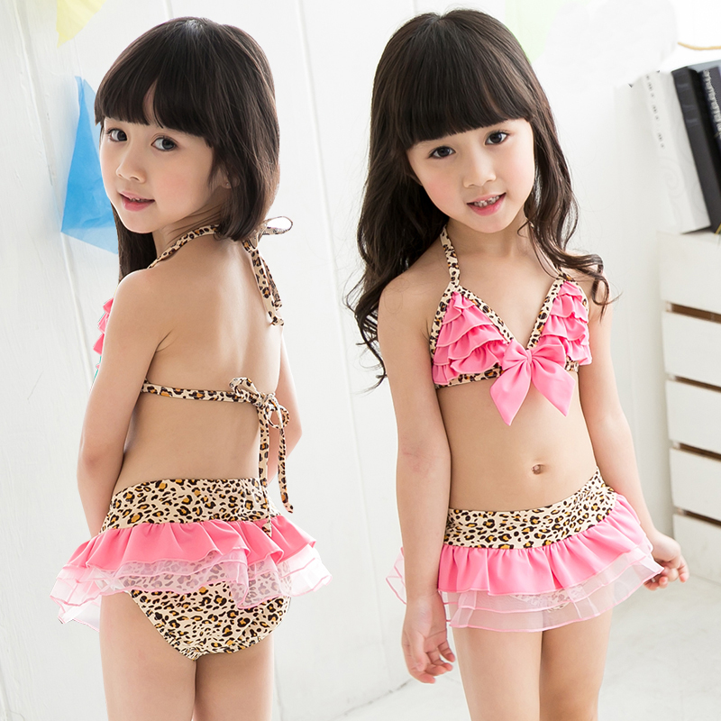 e9dd099c1d9 Get Quotations · Hot new tour woo cute lace baby girls split swimsuit  bikini bathing suit children kids
