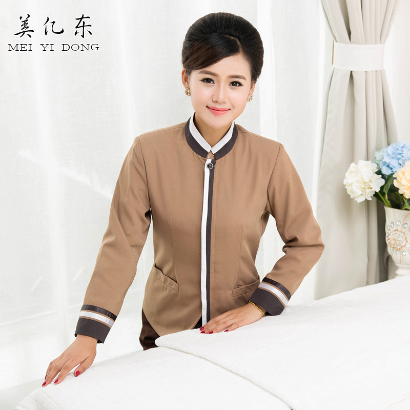 Hotel overalls fall and winter clothes cleaning service cleaning sleeved overalls property cleaning office meal hotel cleaning work clothes