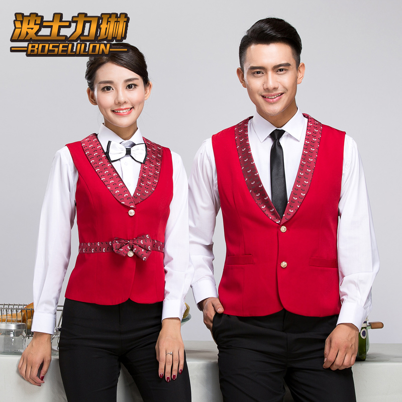 Hotel overalls fall and winter clothes vest ktv attendant uniforms overalls vest vest vest vest uniforms