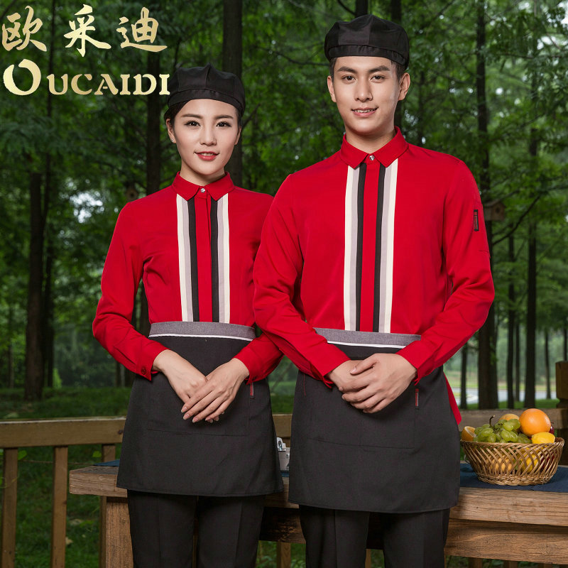 Hotel uniforms summer female burn broasted cafe restaurant fast food restaurant waiter clothing tooling uniforms men short sleeve