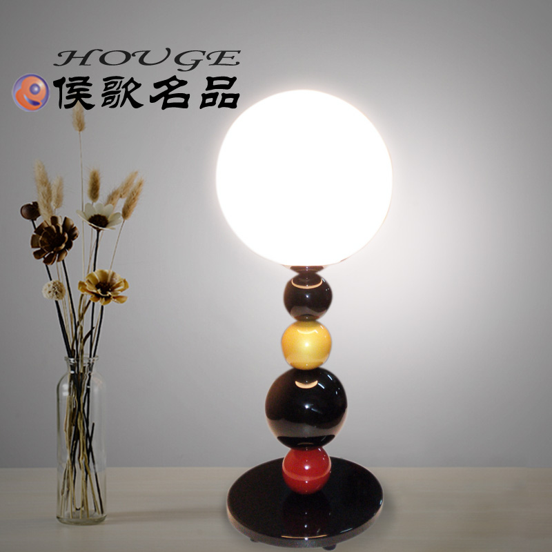 Hou song ball lamp nordic ikea creative personality living room modern minimalist table lamp study bedroom bedside table lamp