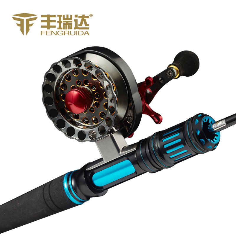 Hsbc raida full metal raft reels micro lead round round ice fishing round raft pole round fish wheel fishing vessel raft full metal Fishing line round