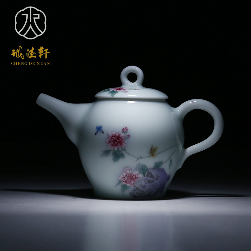 Hsuan tsang tak upscale jingdezhen porcelain handmade ceramic teapot tea set painted finishing no. 24 splendour breeze