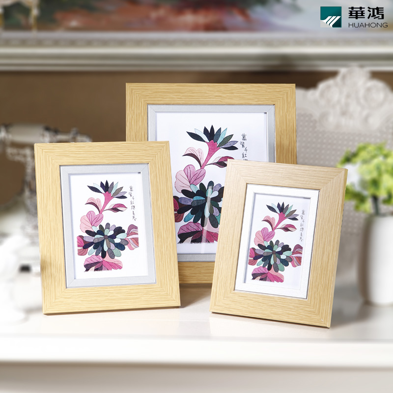 Huahong 6 inch 7 inch 10 inch photo frame swing sets creative photo frame wall original solid wood frame ikea desktop swing sets
