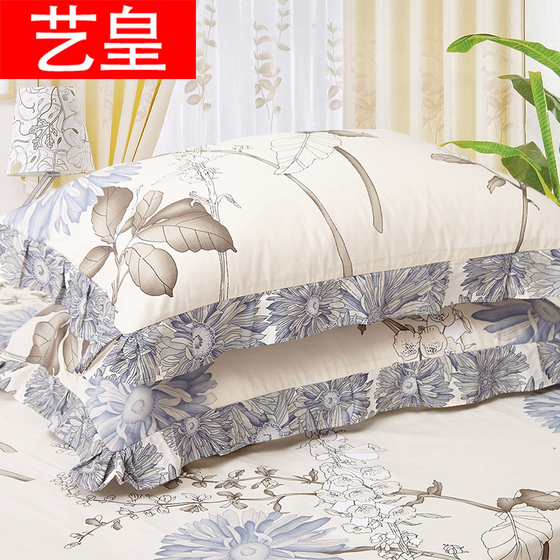 Huang yi cartoon cotton lace pillowcase pillowcases one pair of dress x 74cm cotton bedding single student pillowcase