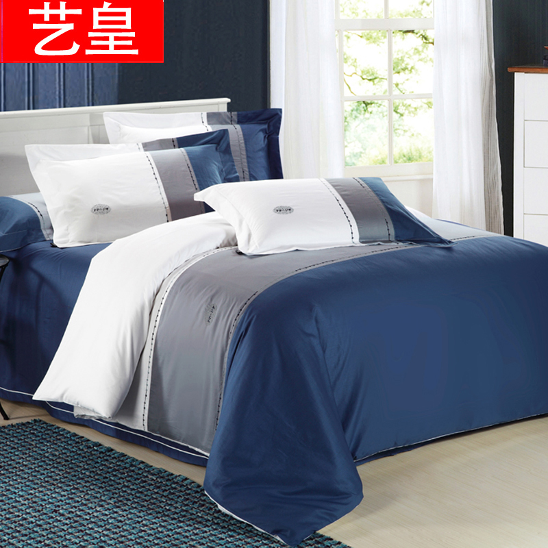 Huang yi embroidered cotton combed cotton twill denim encryption suite bed with quilt sheets free shipping goods