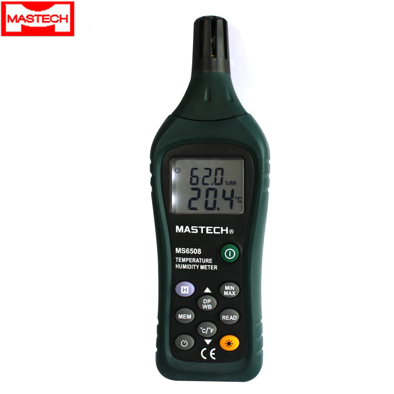 Huayi ms6508 digital thermometer with high precision temperature and humidity table ball dew point temperature table temperature and humidity controller