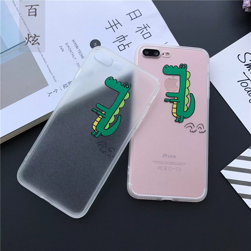 Hundred iphone7 hyun korea cute dog apple 7 plus phone shell mobile phone shell matte shell cartoon men and women meng chong 7 p