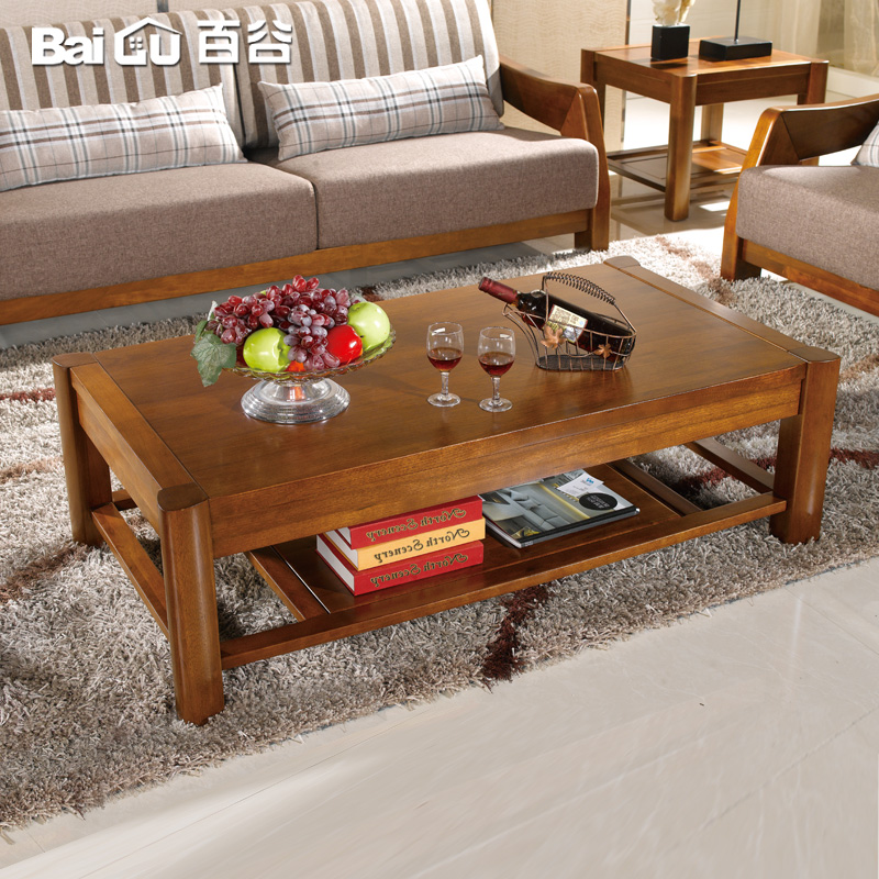 Hundred valleys walnut solid wood coffee table wood coffee table coffee table minimalist modern chinese tea table solid wood furniture deals v28