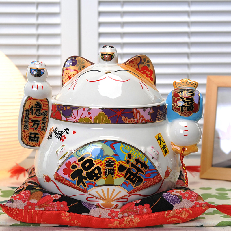 Hundreds of millions two cornucopia lucky cat workshop stone new room decoration wedding gift ideas and practical ceramic sugar bowl