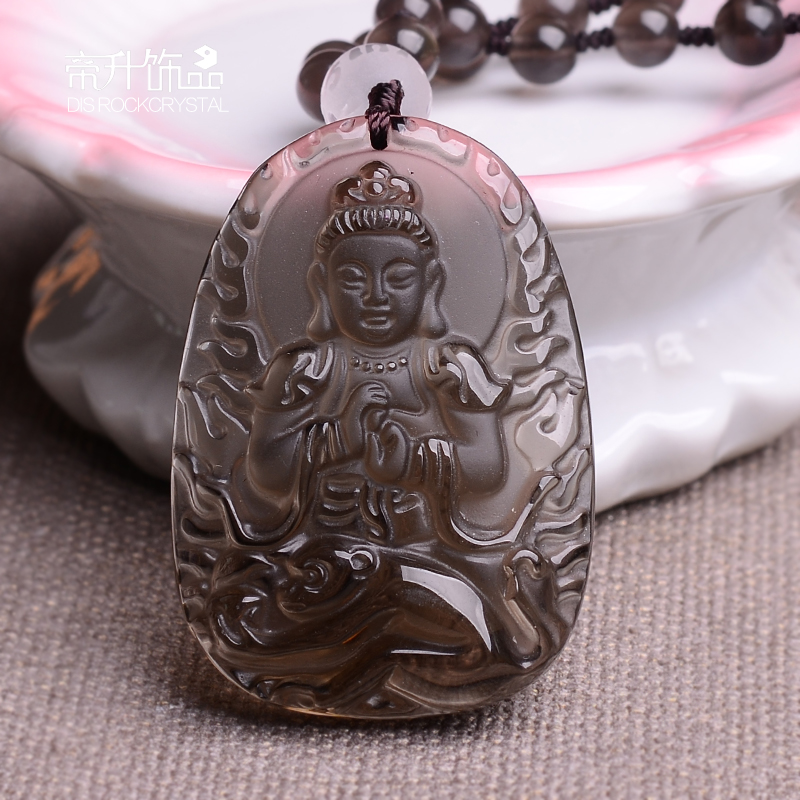 Ice kind of obsidian pendant big day tathagata buddha pendant twelve zodiac sheep monkey pendant mens gift