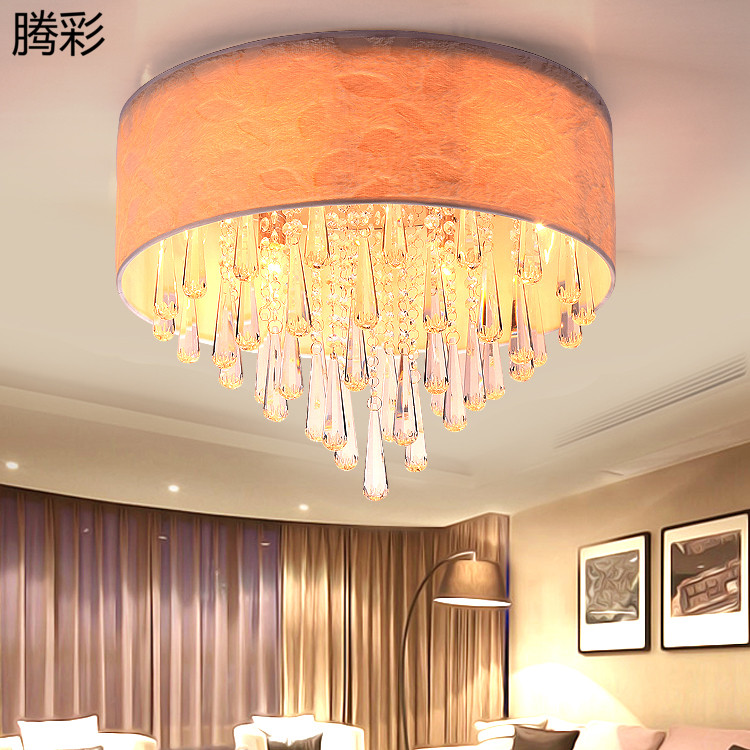 Idyllic small living room lights round crystal lamp bedroom lamp romantic master bedroom ceiling lamp led lamps dining room den