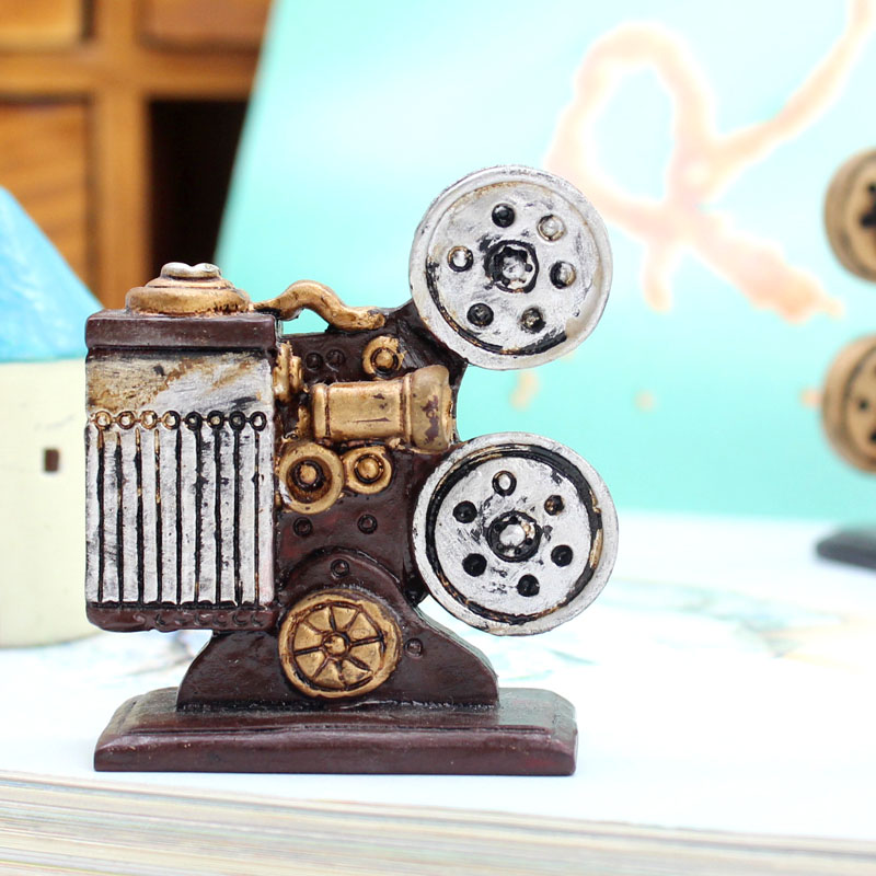 If european retro nostalgia bedroom home creative small ornaments ornaments crafts camera piano gift