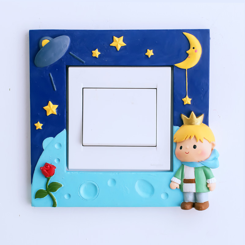 If the creative pastoral switch stickers children's room exupéry personality living room resin wall stickers off the power switch protective sleeve