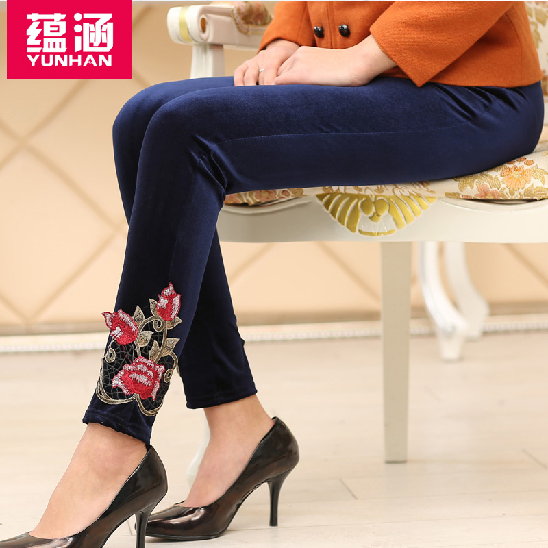 Implication middle-aged women autumn gold velvet dress was thin casual trousers mother dress autumn autumn coat middle-aged women