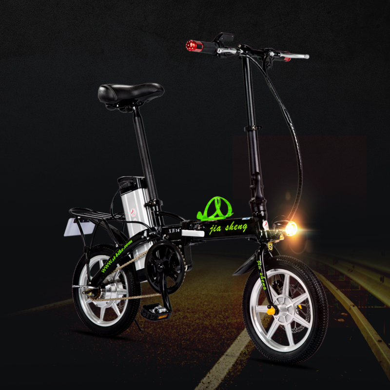 Import 14 inch folding bike electric car driving on behalf of adult fun female mini bike bicycle lithium car battery car booster