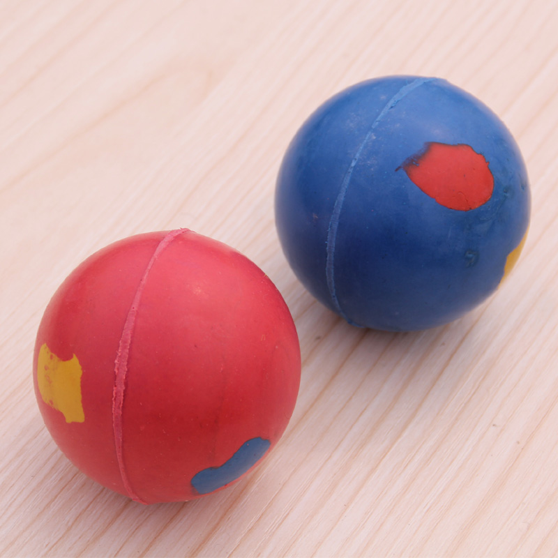 Imported bite resistant elastic solid rubber ball dog toy pet toy ball bite is not bad pet toy dog training