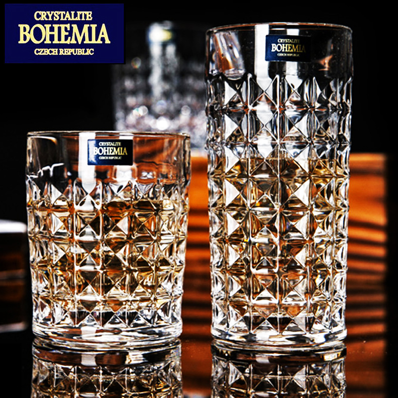 Imported bohemia czech crystal glass of whiskey cup glass beer mug cup juice drink soy milk cup water