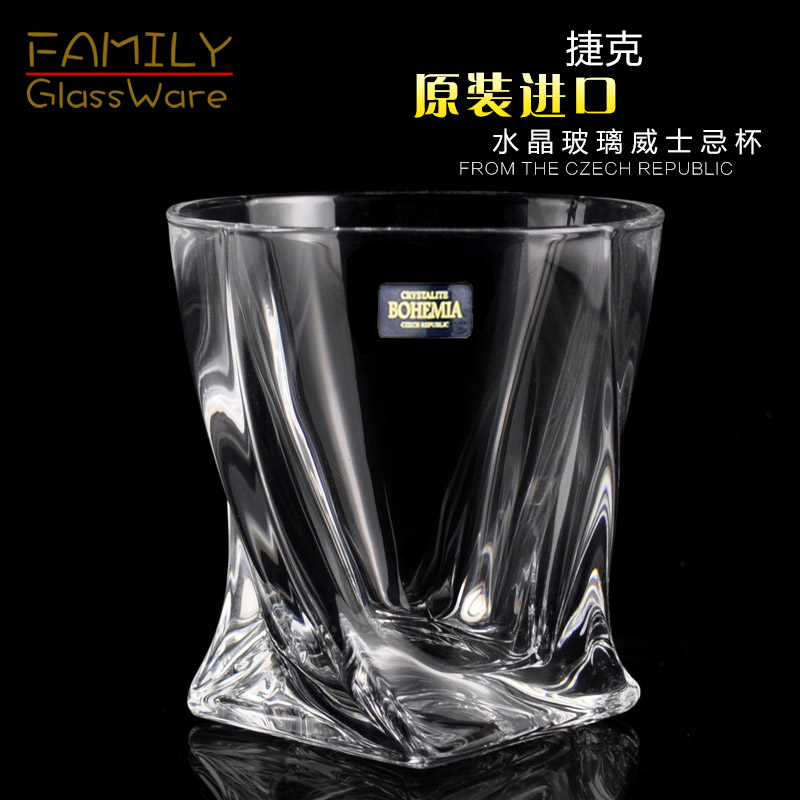 Imported bohemia czech crystal wine glass wine glass of whiskey glass beer mug creative spirits cup
