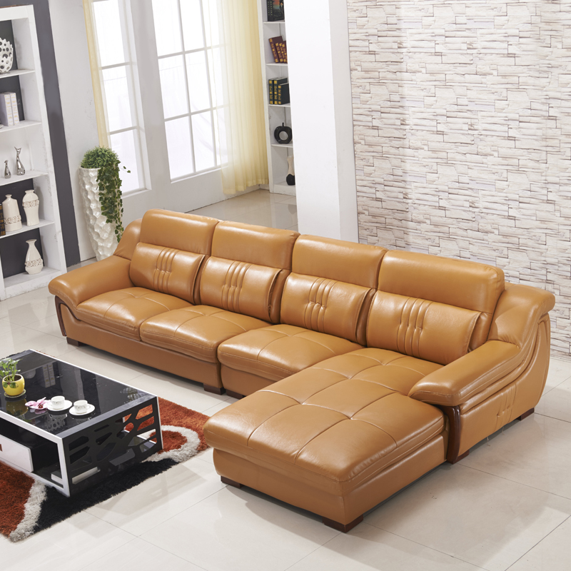 Imported cowhide leather sofa modern living room sofa leather sofa combination minimalist brand c801