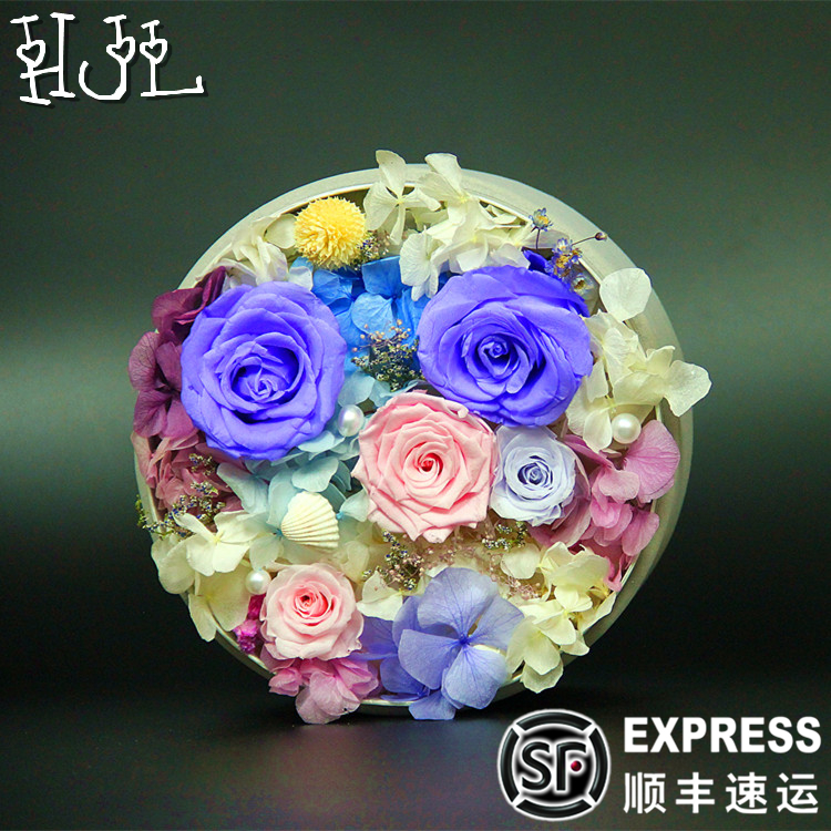 Imported flower preservation preserved flower gift of roses carnations creative upscale christmas valentine's day birthday gift