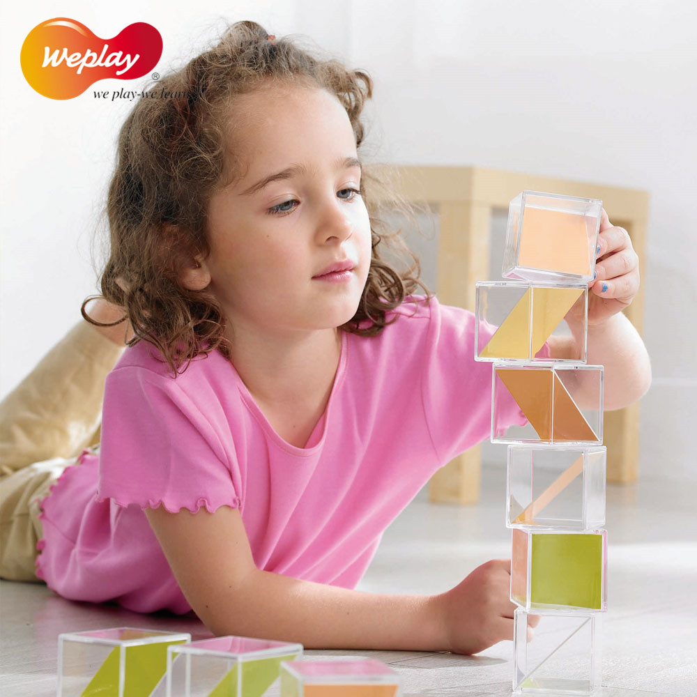 Imported from taiwan weplay kindergarten educational toys for children plastic building blocks of plastic building blocks of intellectual symmetry