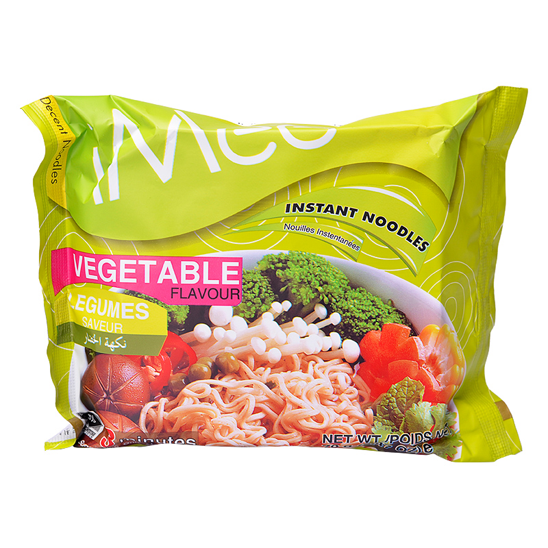 Imported from thailand imee vegetable flavor instant noodles 70gx5 packet of instant noodles instant noodles supper food