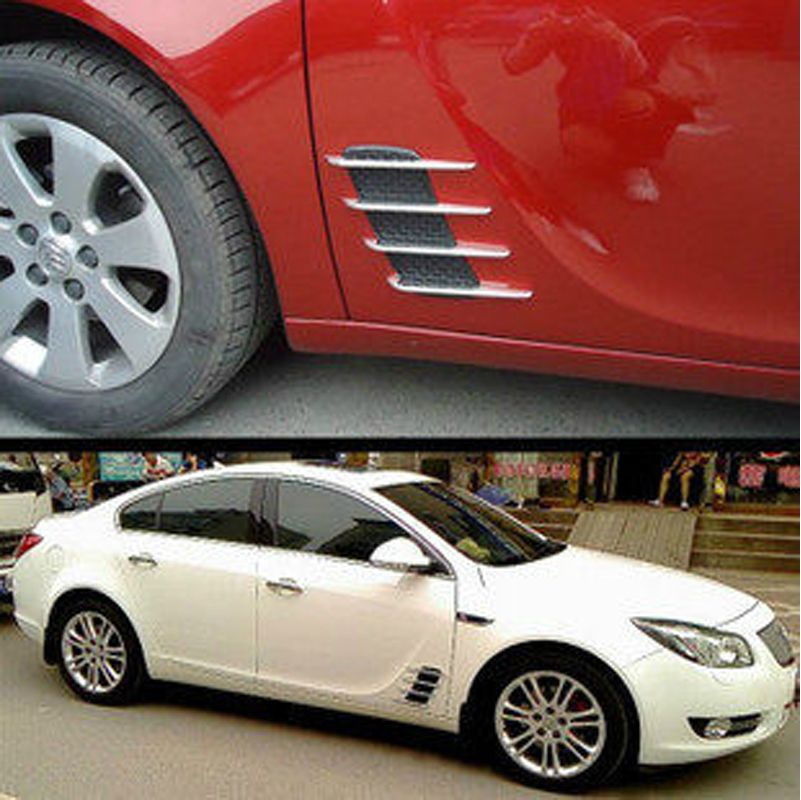 Imported peugeot 4008 car door decorative stickers refit dedicated shark gill vents exterior parts supplies