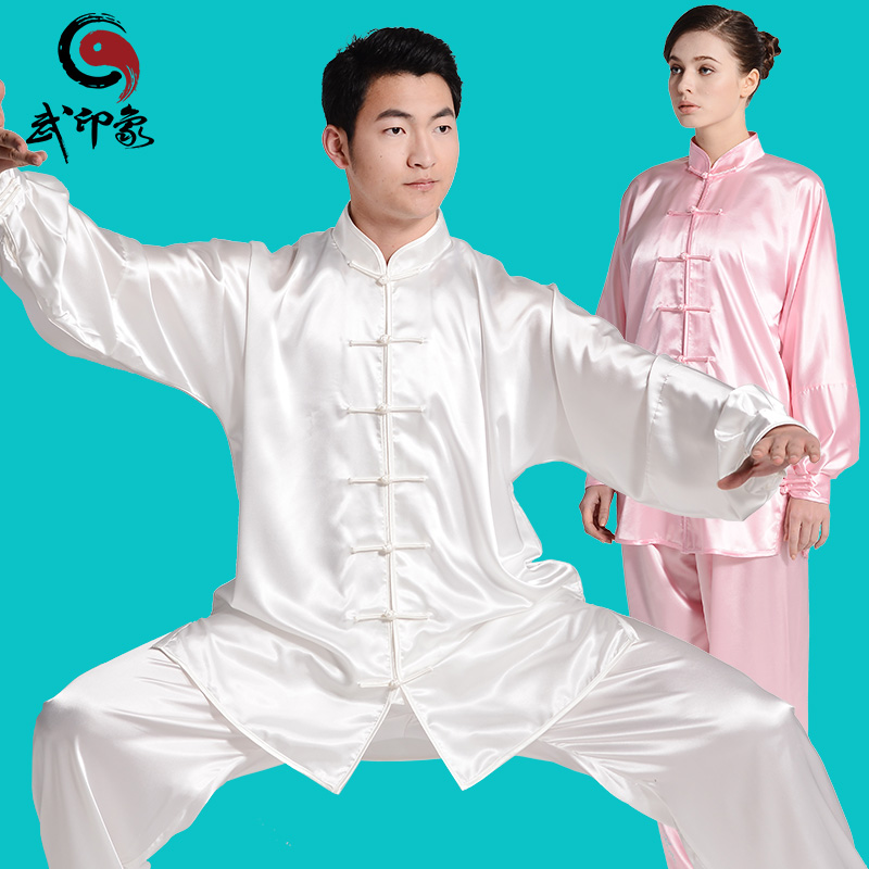 Impression martial tai chi clothing spring and autumn male and female south korean silk tai chi performance clothing in the elderly morning martial arts clothes and