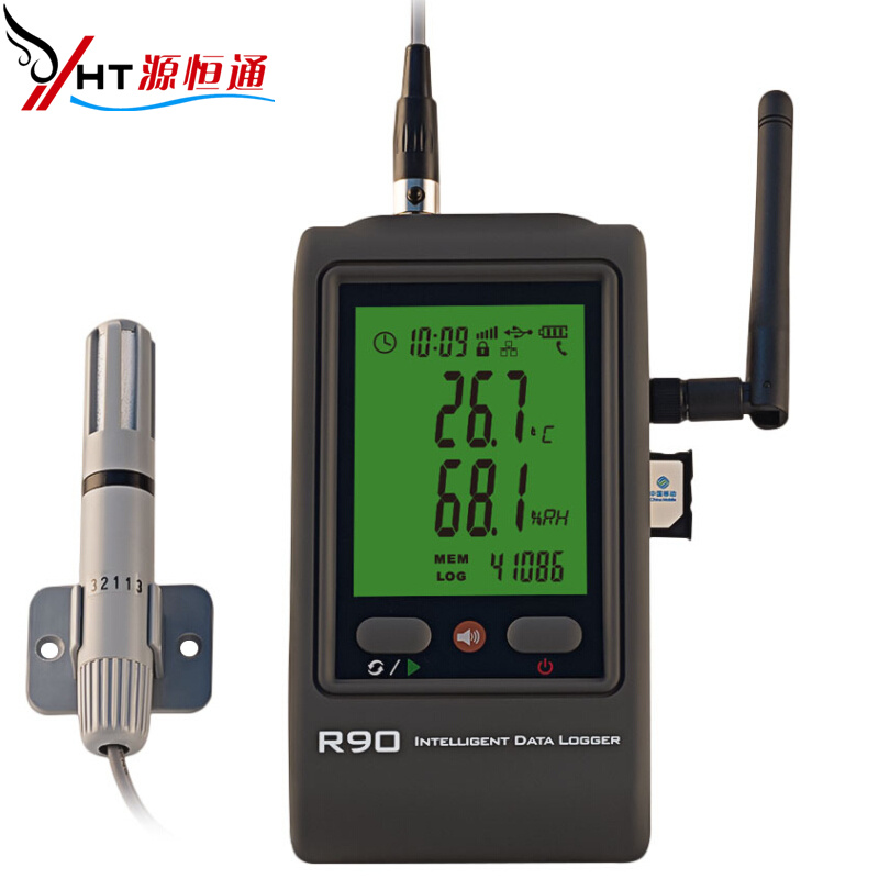 In real time to upload + gsm gprs sms alarm temperature and humidity recording instruments environmental temperature and humidity monitoring alarm device