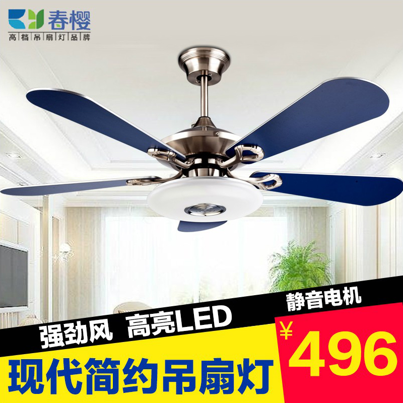Get Quotations · In The Spring Of Sakura Restaurant Fan Lights Led Pendant  Lamp Bedroom Den Living Room Ceiling