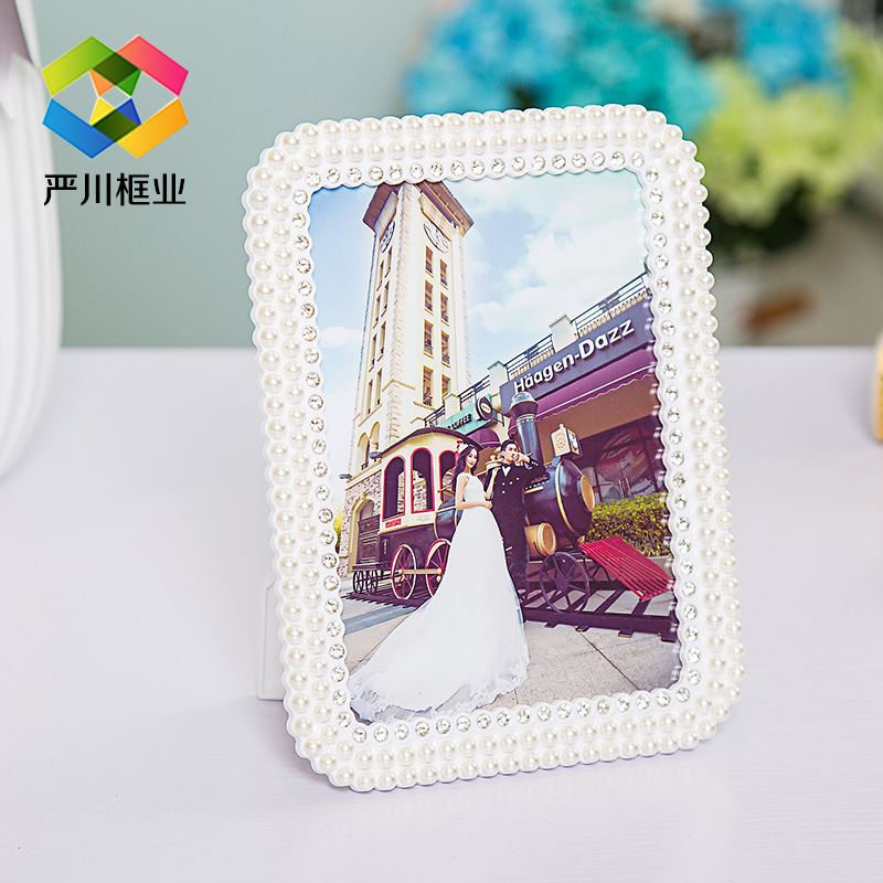 Inch photo frame swing sets 6 7 8 10 10-inch white seven korean pearl wedding photo frame creative photo frame picture frames