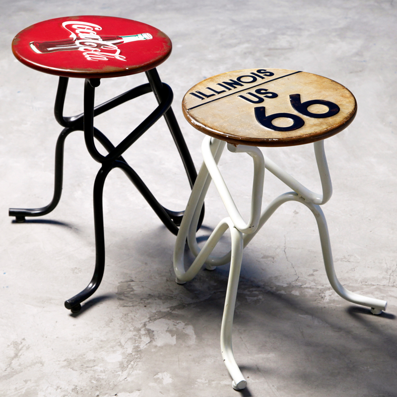 Industrial wind retro personality and creative home decorations living room cafe bar stool bar stool chair stool wrought iron decoration