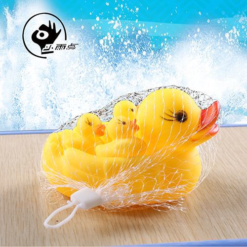 Infant baby bath toys children playing in the water toys baby bath toy duck small yellow duck suit small duck