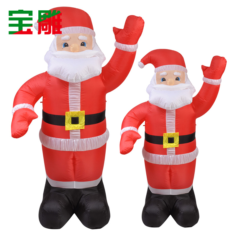 Inflatable santa claus christmas decorations carved treasure illuminated inflatable santa claus inflatable 2.4 m