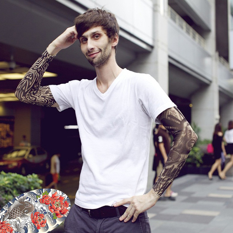 Get Quotations Influx Of Men Tattoo Sleeve Sleeves Riding Flower Arm Cuff