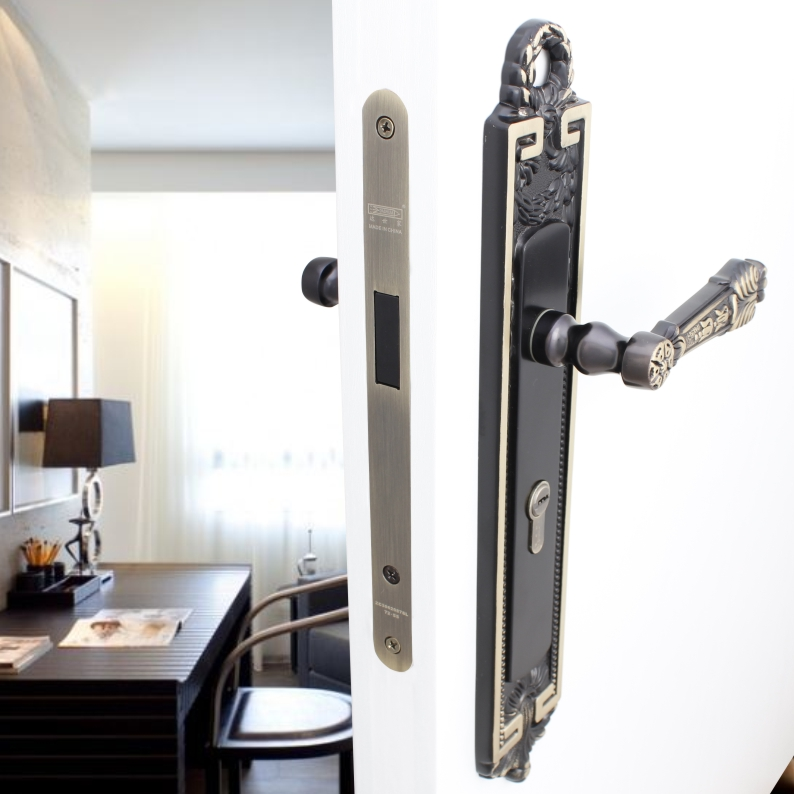 Interior door locks * * luxury villa european american upscale villa door wooden door lock magnetic locks mute