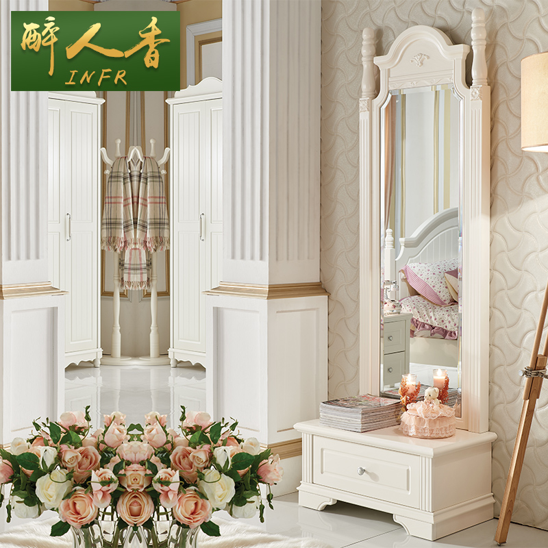 Get Quotations · Intoxicating Fragrant Korean European Dressing Mirror Body  Length Mirror Mirror Storage Bedroom Dressing Mirror Dressing Mirror