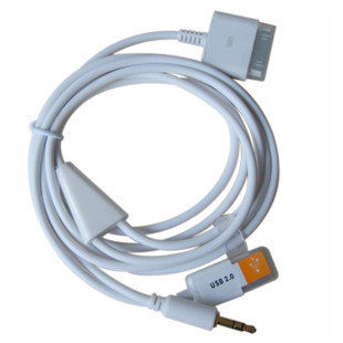 Get Quotations · Iphone4 iphone4s ipod aux aux audio cable car turn usb car with a data cable