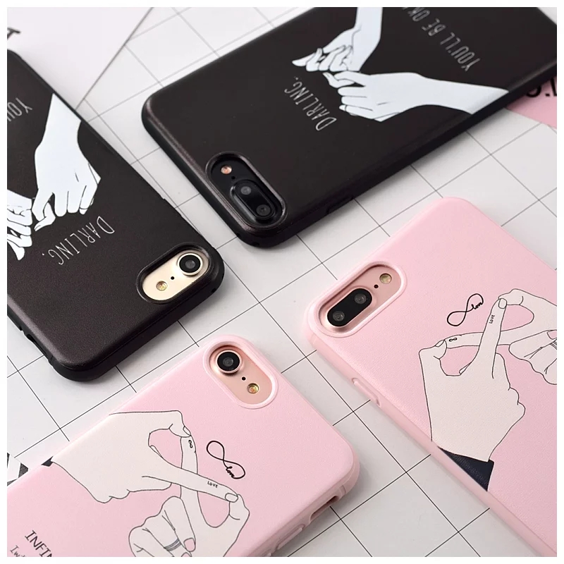 Iphone7 7plus mobile phone sets and creative couple phone shell shell protective sleeve apple 7plus housing for men and women