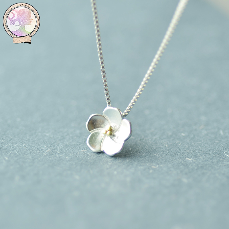Iraqæ´ä¼ è³| 925 silver silver pendant clavicle chain necklace female temperament simple fresh cherry accessorise