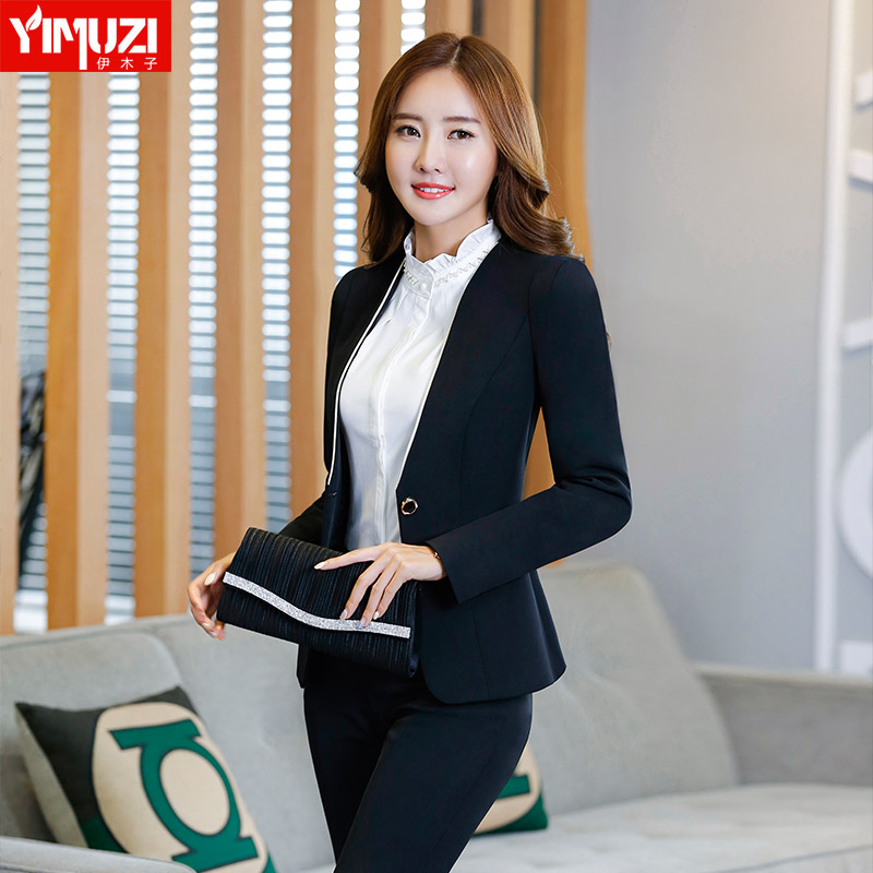 Iraq muzi three sets of business trousers trousers ol women wear suits hotel reception overalls fall and winter clothes