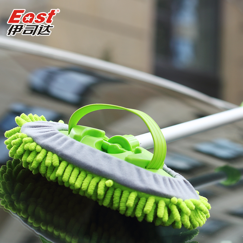 Iraq secretary of rich velvet car wash brush car brush retractable soft bristle brush through the water pipes car wash car supplies tools
