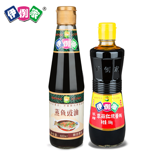 Iraqi patients home flagship store with steamed fish soy sauce 460 ml concentrated mushroom soy sauce teriyaki sauce 550g