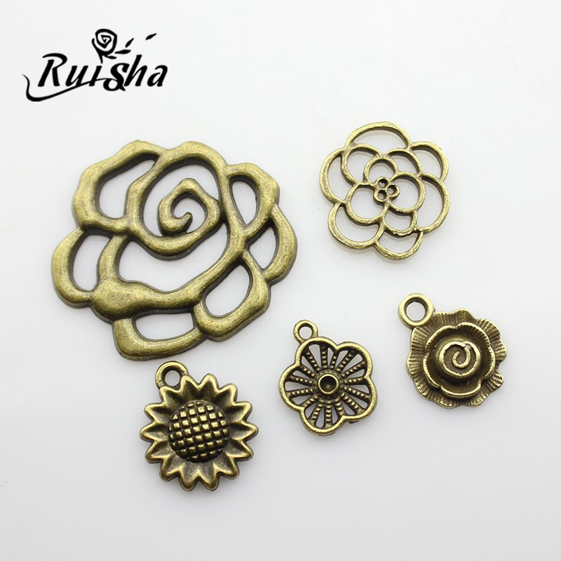 Iressa diy jewelry materials accessories direct handmade beaded zipper sunflower flowers small pendant